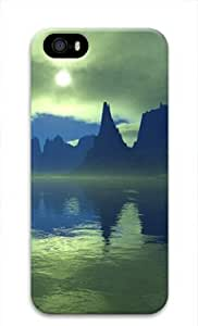 Iphone 5c 5c 3D PC Hard Shell Case Water Silence by Sallylotus