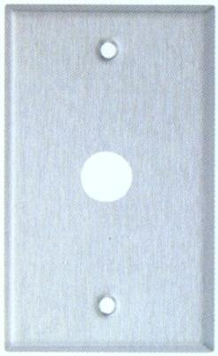 Morris 83465 430 Wall Plate for Cables, 1 Gang.4375' Hole Diameter, Stainless Steel