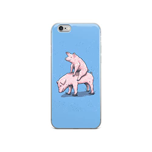 iPhone 6/6s Case Anti-Scratch Creature Animal Transparent Cases Cover Piggy Back Ride Animals Fauna Crystal Clear