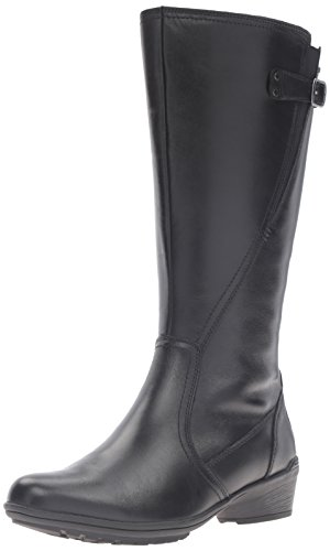 Rockport Cobb Hill Women's Cobb Hill Rayna Wide Calf Rain Boot, Black, 9 W US by Rockport