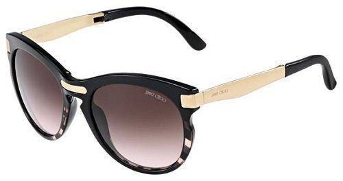 Jimmy Choo Lana Sunglasses Zebra Black Coral / Brown Gradient