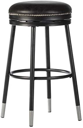 Hillsdale Furniture Decorative Backless Metal Swivel Capped Legs Counter Height Stool