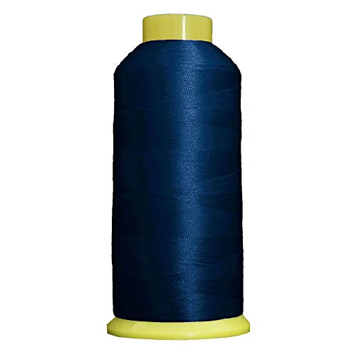 Threadart Polyester Machine Embroidery Thread - 5000m Cones - No. 232 - Blue Ribbon - 160 Colors ()