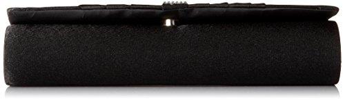 Crystal Evening Womens Bag Fashion Pleated Satin Damara Black Clutch BgtwpSpq