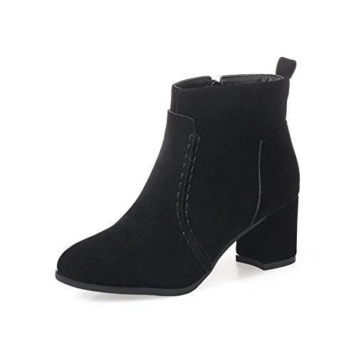 Casual Pointed Boots Toe Womens Resistant Suede Black ABL10128 Slip BalaMasa 1SqnAUx