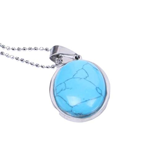 CosMos777 Aventurine Tiger Eye Reiki Natural Gem Stone Beads Egg Shape Necklaces Pendants Jewelry