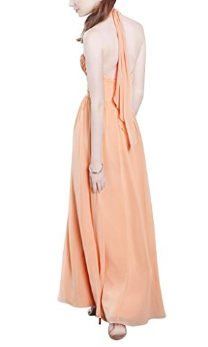 BRIDE rueckenfreie Partykleid Orange Halfter abendkleid Orange GEORGE langen nzWF8Fc