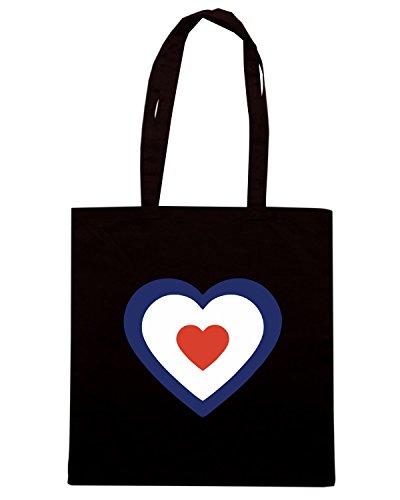 T-Shirtshock - Bolsa para la compra TLOVE0120 mod target heart Negro