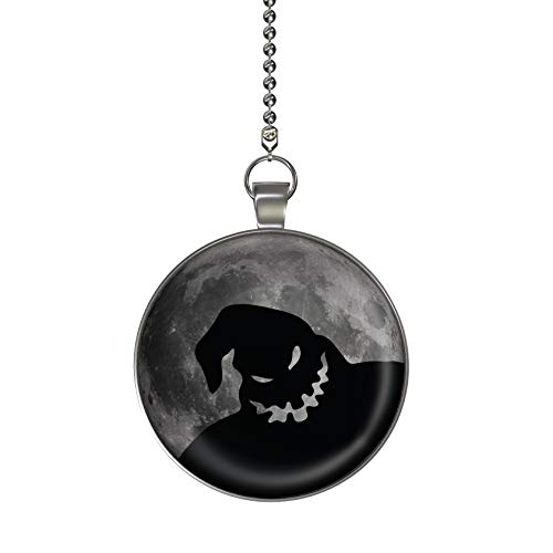 Boogie Man Moon Glow in the Dark Fan/Light Pull Pendant with Chain]()