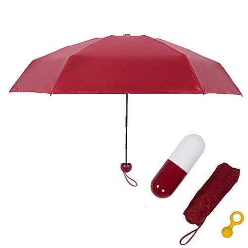 T20 Capsule - Xligo 4 Colors Rain Umbrella 5 Folding Ultralight Mini Rain Umbrellas Portable Black Coating Parasol Pocket Capsules Umbrella T20