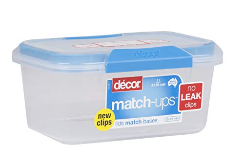 Decor 231900-006 Match-ups Clips Food Storage, 33.8 oz, Blue (Best Small Microwave Australia)
