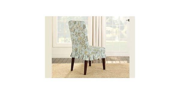 Enjoyable Amazon Com Sure Fit Casablanca Rose By Waverly Dining Chair Inzonedesignstudio Interior Chair Design Inzonedesignstudiocom