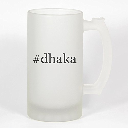 #dhaka - 16oz Frosted Glass Hashtag Stein -  Molandra Products, B07Y16D02W091981M04T20CSUS-C