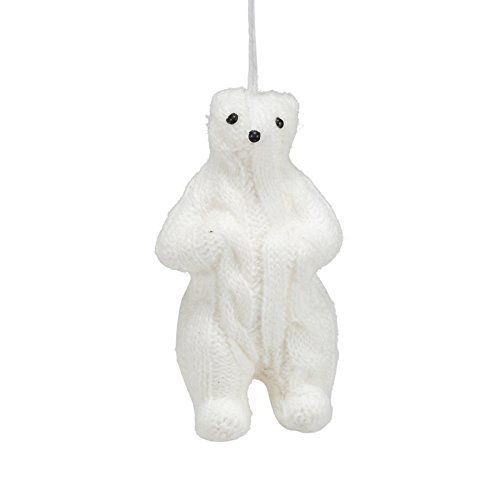 Abbott Collection Ivory Cable Knit Polar Bear ()