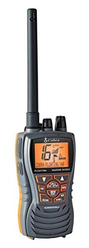 Map Cobra - Cobra MRHH350FLT Floating VHF Long Range Marine Radio, Tri-Watch, Burp Feature