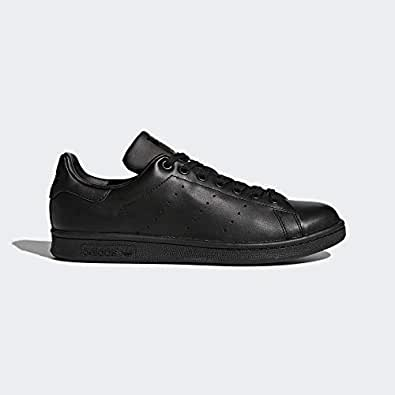 adidas, Stan Smith Original Trainers, Men's Shoes, Black/Black/Black, 6.5 US