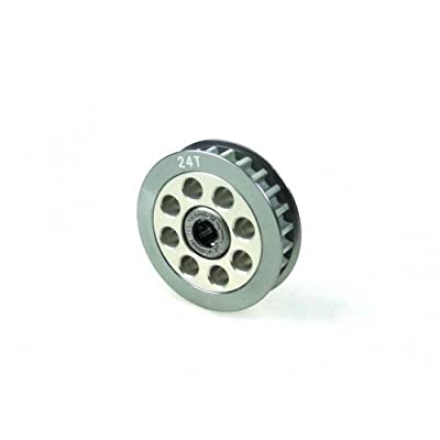 3RACING Integy RC Model Hop-ups 3RAC-3PYW/24 Aluminum Center One Way Pulley Gear T24