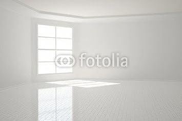 Poster Bild 120 X 80 Cm Heller Raum Mit Fließen In Weiß Bild Auf