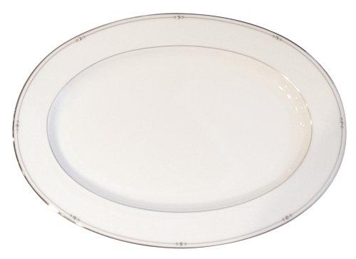 Royal Doulton Precious Platinum 14-1/4-Inch Platter (Royal Platter China Bone Doulton)