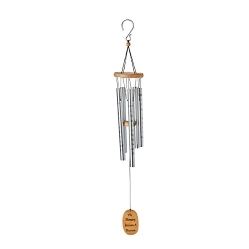 Message Memory - Floral Supply Online - Footprints in The Sand Inspirational Wind Chime - Sympathy Message - The Memory Becomes A Treasure.