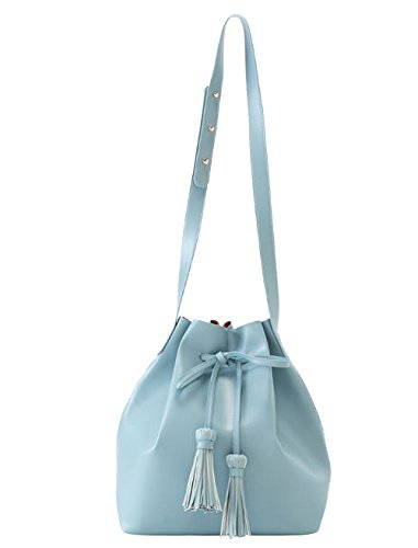 'anya' Sky Blue Bucket Handbag By Shiraleah S-01-27-424sk