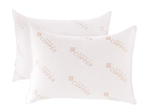 Essence of Copper Bed Pillow, 20x28, White