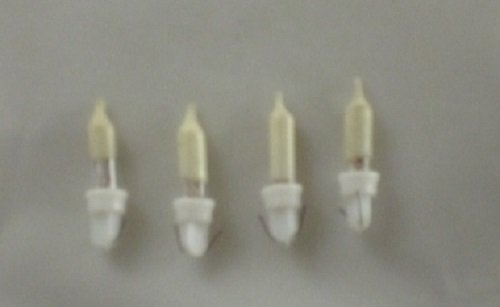 No 3b Pack of 4 Clear Push in fuse bulbs 12v