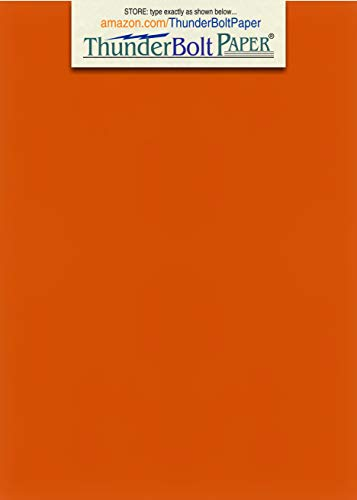150 Bright Darker Orange Color Cover/Card Paper Sheets - 5 X 7 Inches Photo|Card|Frame Size - 65# (65 lb/Pound) Light Weight Cardstock - Quality Printable Smooth Paper Surface