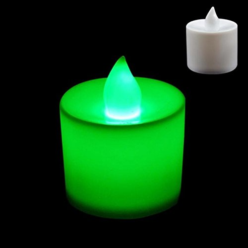 BATOP led Tea Candle Lamps Christmas Multicolor Simulation Color Flame Flashing Lights Home Wedding Birthday Party Deco Holiday Lights