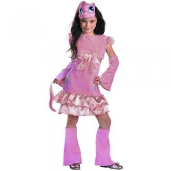 Girls Pinkie Pie Deluxe Costumes (My Little Pony Pinkie Pie Deluxe Halloween Cosume - Toddler Size 3T-4T)