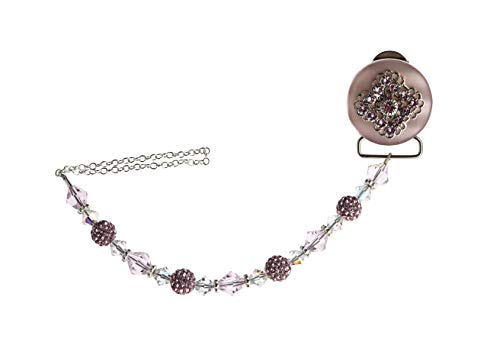 - Luxury Pink Swarovski Crystals and Beads Sparkly Baby Unisex Keepsake Pacifier Clip (CSHP)
