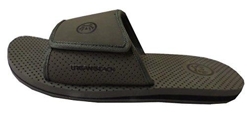 Garçons Velcro Dessus en nubuck sandales mules à bout ouvert/(UK 4/EU 37, gris)