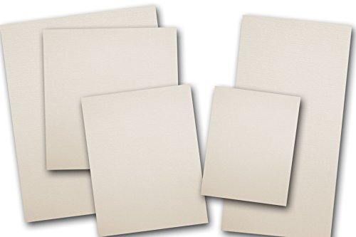 Blank Classic Linen 80 lb Natural White 5x7 Card Stock - 50 Pack