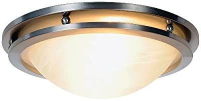 AF Lighting Contemporary Lighting Collection Flush Mount, Brushed Nickel