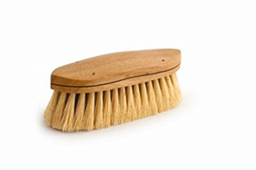 Legends Tampico Curved-Back Grooming Brush - Natural - 8 1/4'' by Desert Equestrian