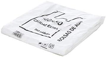 Natural Apiary Envio 24H Bolsas de Plastico Asa Camiseta Blanco Disponible Varios TAMAÑOS - Fabricadas en España Eco-Friendly (40 x 50 cm. (200 Unidades)