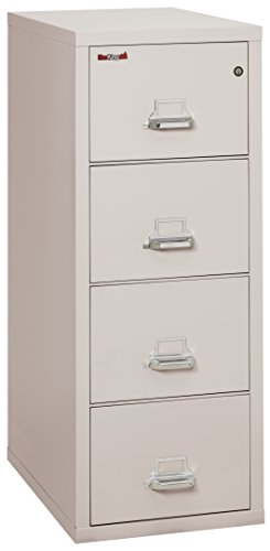 FireKing Fireproof Vertical File Cabinet (4 Letter Sized Drawers, Impact Resistant, Water Resistant), 52 .75