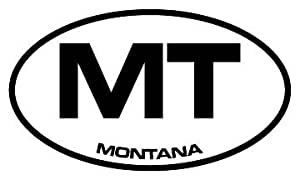 """6"""" Montana MT euro oval style Magnet for Auto Car Refrigerator or any metal surface."""