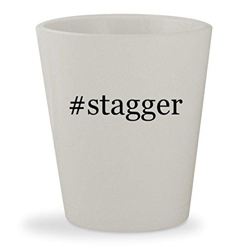 Price comparison product image #stagger - White Hashtag Ceramic 1.5oz Shot Glass