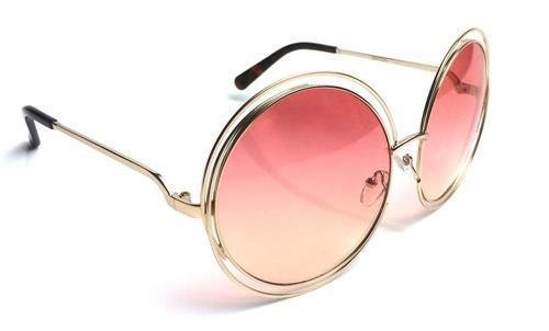 Details about XXL Halo Double Wire Oversized Big Round ROXANNE Bohemian Coachella - Bruce Lee Brand Sunglasses