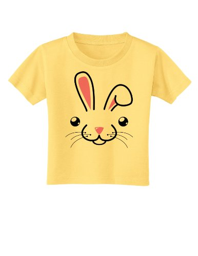Cute Bunny Face Easter Toddler T-Shirt - Daffodil Yellow - 4T (Easter Bunny Yellow T-shirt)