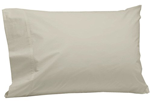 Coyuchi 300 TC Organic Percale Pillowcase Set/2, Standard/Queen, Undyed (Percale Organic Coyuchi Sheet)