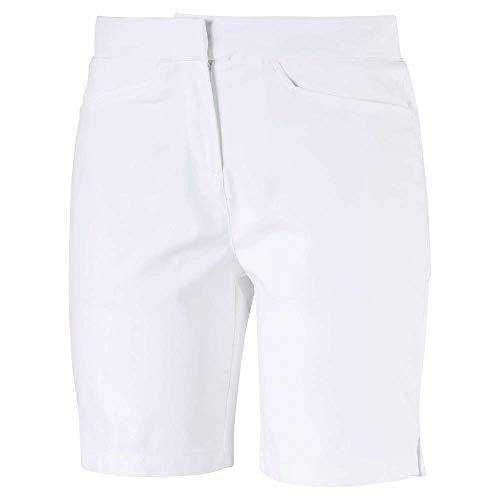 Puma Golf Women's 2019 Pounce Bermuda Short, Bright White, Large (Best Golf Shorts 2019)