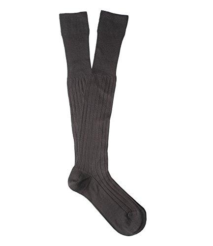 TORINO Knee-high, Anthracite fine cotton lisle Socks