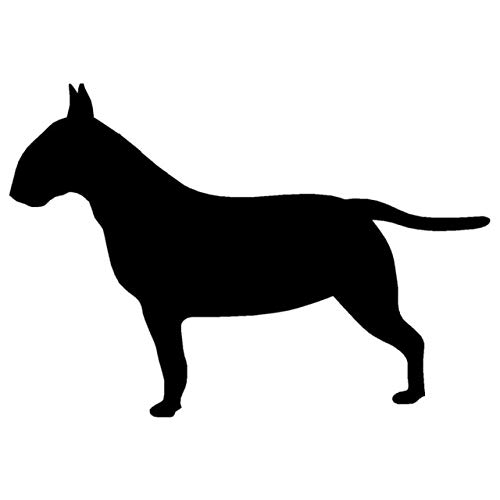 - Hitada - 11.5x8CM Bull Terrier Dog Silhouette Sticker Decal Animal Car Window Stickers Car Accessories Silver/Black