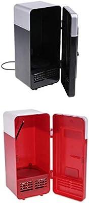 Almencla Mini Puerto USB Frigorífico, Calor, Frío, Doble ...