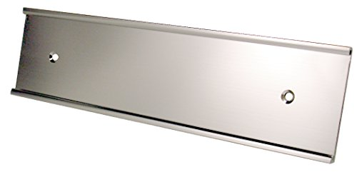 NamePlate Holder, Wall or Door, 2x10 - Pack of 100 - Wholesale Lot (Silver)