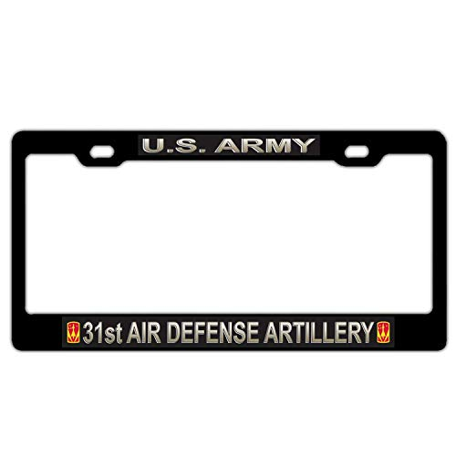 Hopes's License Plate Frame Cover, Aluminum Metal Automobile License Tag Holder for Front or Back License Plate, Vanity Gift Car Tag Frame - U.S. Army 31st Air Defense Artillery Brigade