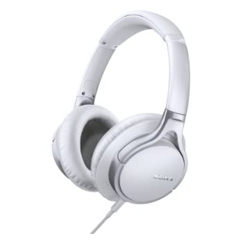 Sony MDR10R Hi-Res Stereo Wired Headphones (White)