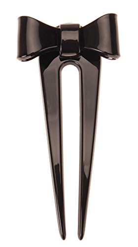 France Luxe Adore A Bow Chignon Pin - Black